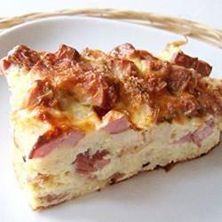 املت با پنیر و ژامبون