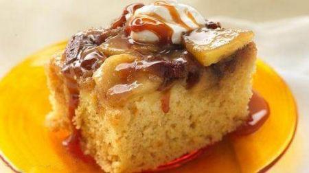 کیک سیب داغ