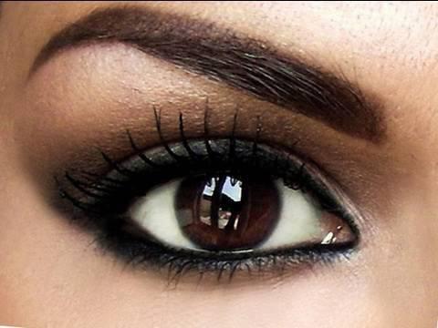 Image result for بهترین رنگ سایه برای چشمهای سیاه