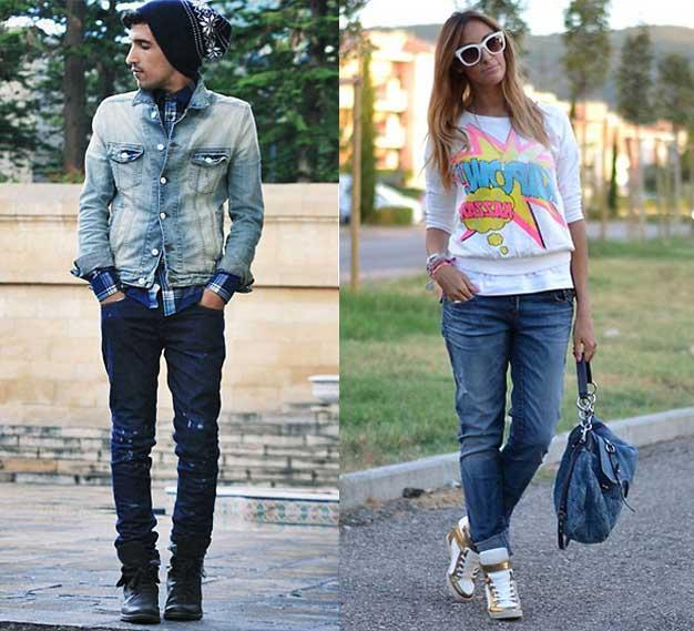 استفاده از شلوار جین و مدل تا زدن آن