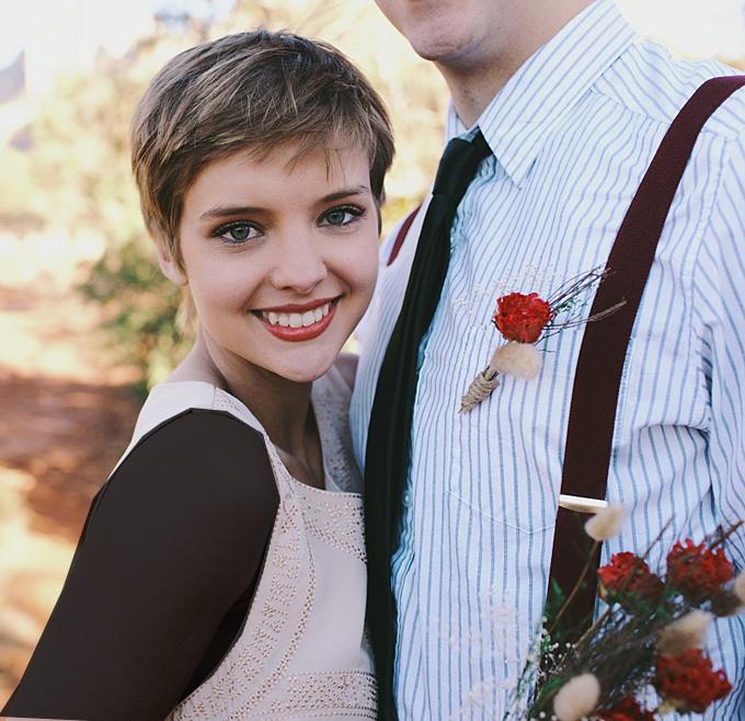مدل های موی عروس برای موهای کوتاه