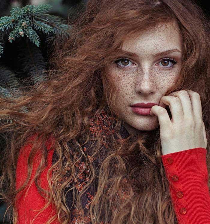 پرتره زیبا از مو قرمز ها