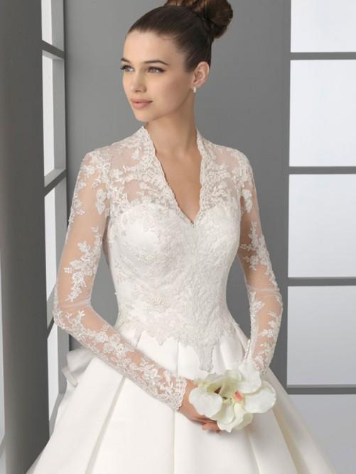 لباس عروس های آستین بلند ،مدل های جدید 2014