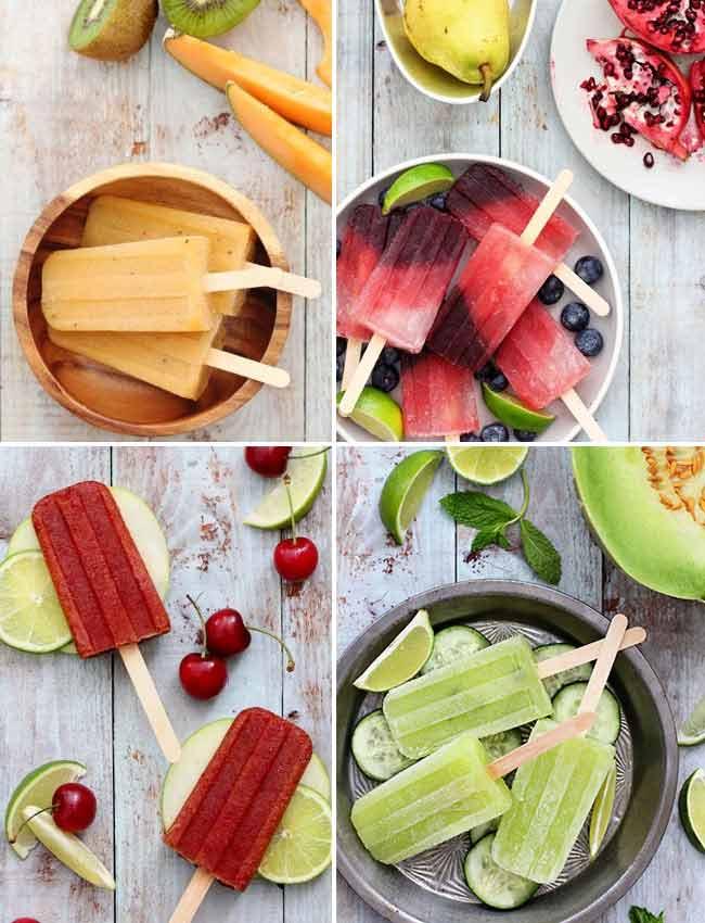 با میوه هایی که دوست دارید برای خودتون و مهموناتون بستنی درست کنید