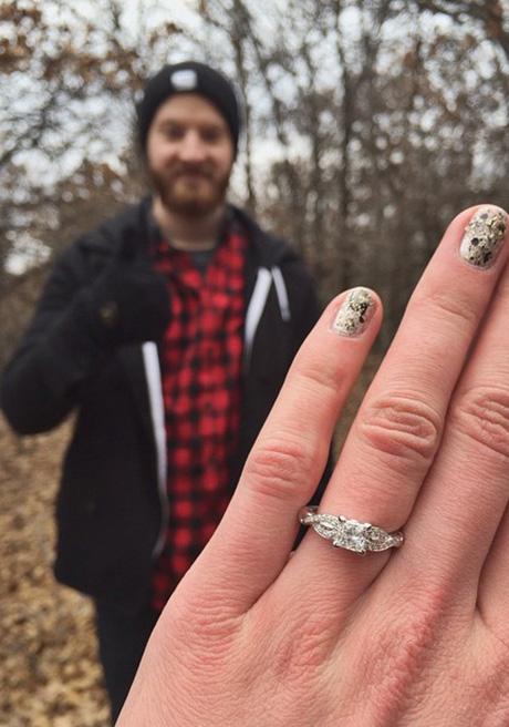 سلفیهای بسیار زیبا از حلقه نامزدی