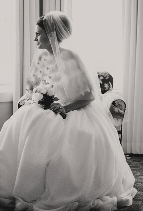 مدل های موی عروس مناسب با تور