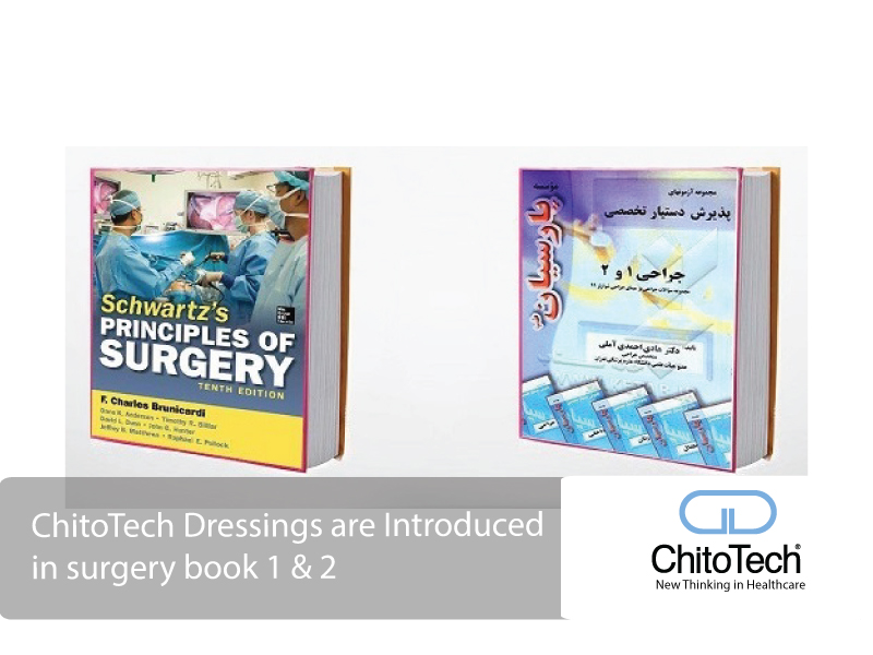 ChitoTech Dressings are Introduced in surgery book