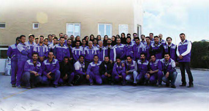 کارکنان شرکت نیرومند پلیمر پارس