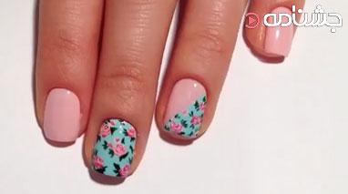 طراحی ناخن گل گلی زیبا